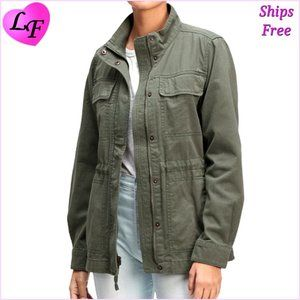 GAP Women's New Vintage Style Utility Jacket Size Small Army Green